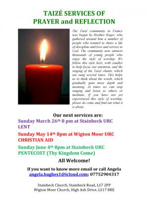 Taize Services at Stainbeck URC photo
