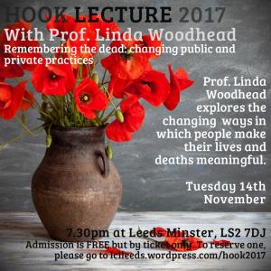 Hook Lecture 2017 with Prof. Linda Woodhead photo