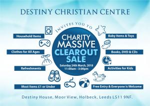 Charity clear out sale photo