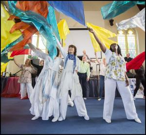 Sh'ma Kingdom Dancers at Corn Exchange and Park Square this Saturday photo