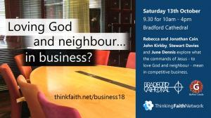 Loving God and neighbour ... in business? photo