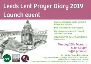 Leeds Lent Prayer Diary 2019 Launch Event photo