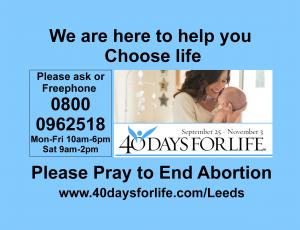40 Days for Life Leeds Prayer Vigil photo