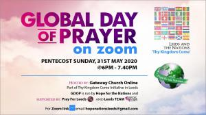 Global Day of Prayer on Zoom photo